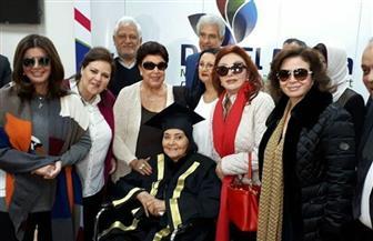 إلهام شاهين ونبيلة عبيد في حفل تكريم الفنانة مديحة يسري