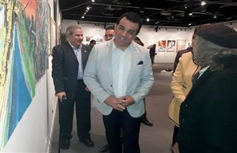 """الأمين العام للمجلس الأعلى للثقافة يفتتح معرض """"فن وإبداع"""" بالهناجر   صور"""