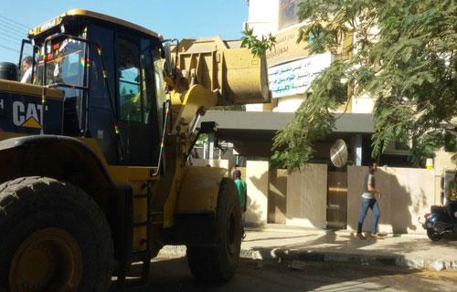 إزالة  كافيه  شهير بمدينة نصر