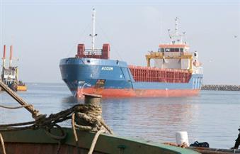 """بالصور.. ميناء الصيد بالبرلس يستقبل السفينة """"هوهي بنك"""" محملة بـ 12 طردًا"""