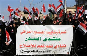 """""""الصدر"""" يدعو المتظاهرين إلى """"انسحاب تكتيكي"""".. و""""العبادي"""" يؤكد""""حق التظاهر"""" والتزام القانون"""