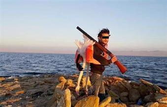 بالصور.. جريمة صيد مخالفة بمحمية قارون بالفيوم.. والمحميات الطبيعية تتوصل للفاعل