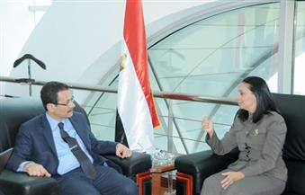 مايا مرسي تزور المنطقة الاقتصادية لقناة السويس وتُعلنها منطقة صديقة لعمل المرأة