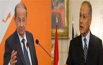 جلسة مباحثات ثنائية بين أبو الغيط وعون