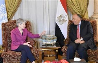 وزير الخارجية يستقبل إيرينا بوكوفا مدير عام اليونسكو