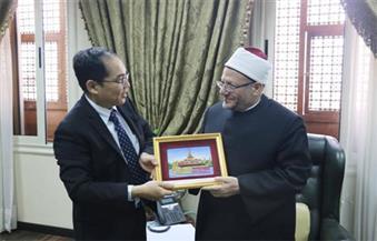 بالصور..سفير ميانمار يطالب مفتي الجمهورية بمزيد من الدعم لحل القضية في بورما