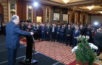 بالصور.. حفل استقبال للرئيس اللبناني على نيل القاهرة