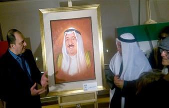 """بالصور.. الذويخ يفتتح معرض الفن  التشكيلي """"الكويت بعيون مصرية ومصر بعيون كويتية"""""""