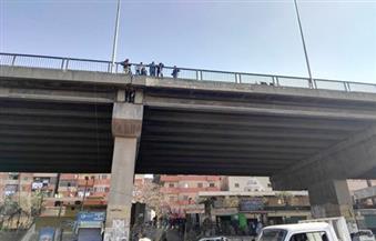 إصابة شخصين إثر سقوط قطعة أسمنتية من جسم كوبري بمنشأة ناصر