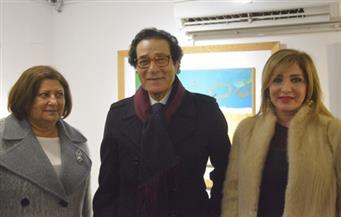 بالصور.. افتتاح معرض الفنان فاروق حسنى بجاليرى أوبونتو