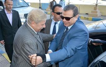 """بالصور.. """"سعفان"""" يصل الإسماعيلية لافتتاح ملتقى توظيفي بالمحافظة"""