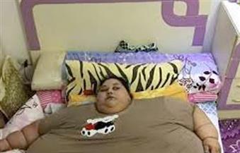 تخس 200 كيلو فى 6 أشهر الستة المقبلة..  المصرية إيمان تفقد 40 كيلوجرامًا من وزنها في سبعة أيام وتحرك أطرافها