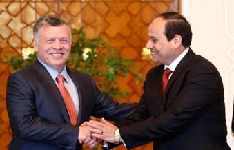 الرئيس السيسى يستقبل العاهل الأردني الملك عبد الله الثانى بمطار القاهرة الدولى