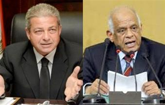 عبد العال يستعرض قانون الرياضة مع وزير الشباب في لقاء مغلق