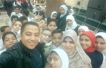 بالصور.. طلاب مدرسة بالوادي الجديد يتبرعون لصندوق تحيا مصر