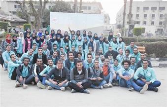 """بالصور.. """"Our Vision"""" نشاط طلابي بجامعة القاهرة وورش عمل لـ8 أقسام"""