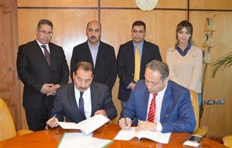بالصور.. توقيع اتفاقية تعاون بين جامعة الفيوم والمعهد الدولي للمياه بجنيف