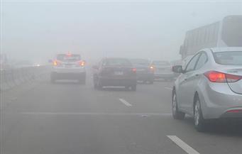 """غلق طريق """"القاهرة - الإسكندرية"""" الصحراوي بسبب الشبورة المائية"""