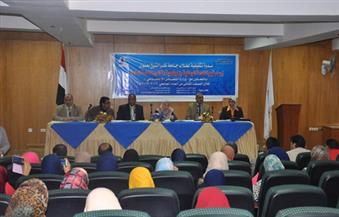 بالصور-ندوة-بكلية-الآداب-جامعة-كفر-الشيخ-عن-قانون-الخدمة-العامة