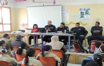 بالصور.. الحماية المدنية بالأقصر تنظم زيارة إلى مدرسة أحمس الابتدائية الجديدة بالكرنك