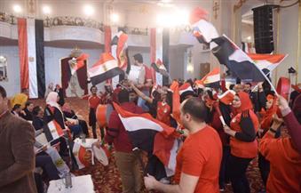 بالصور.. شباب البرنامج الرئاسي ينظمون فاعلية لمشاهدة مباراة مصر والكاميرون في نهائي البطولة الإفريقية