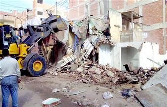 بالصور.. إزالة التعديات علي أملاك الدولة بأربع بلوكات بمنطقة القابوطي ببورسعيد