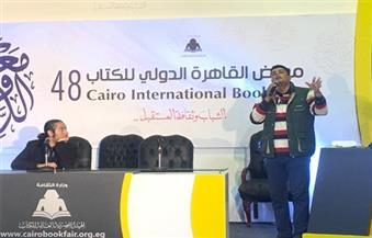 """بالصور.. عبدالعزيز مكيوي الحاضر الغائب.. شاعر يرثي بطل """"القاهرة 30"""" في معرض الكتاب"""