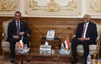 """عبد العال يشيد بـ""""الدبلوماسية الحكيمة"""" للكويت خلال لقاء مع رئيس مجلس الأمة"""
