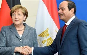 الرئيس السيسي والمستشارة الألمانية أنجيلا ميركل يعقدان مؤتمرا صحفيا عقب جلسة مباحثات مشتركة