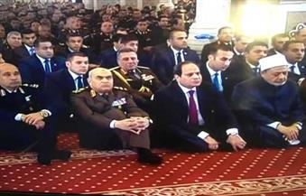 السيسي يشارك قادة القوات المسلحة احتفالها بيوم الشهيد بمسجد طنطاوي