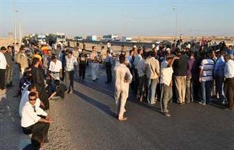 قطع طريق قنا الصحراوي احتجاجًا على خطف طفل