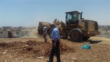 حملة لإزالة التعديات على بحيرة مريوط بالإسكندرية