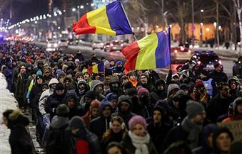 تظاهر الآلاف في رومانيا احتجاجا على الفساد لليوم الثاني