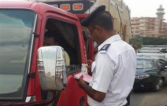 """""""أمن مطروح"""" يضبط 8 سائقين تحت تأثير المخدرات و208 حالات إشغال طريق"""