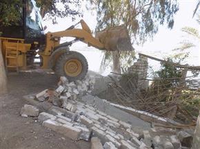 إزالة مخالفات وتعديات ببحيرة مريوط وترعة المحمودية في حملة بالإسكندرية