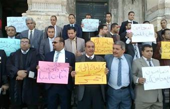 بالصور.. وقفة لمحامى الإسكندرية للتضامن مع زملائهم المحبوسين بالمنيا