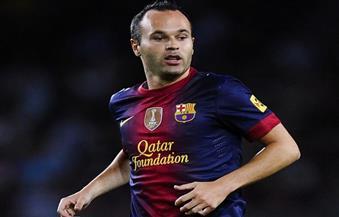 برشلونة يخسر أنييستا فى موقعة بلباو بسبب الإصابة