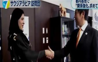 بالفيديو...أميرة سعودية تهزم وزير الرياضة الياباني في تنس الطاولة