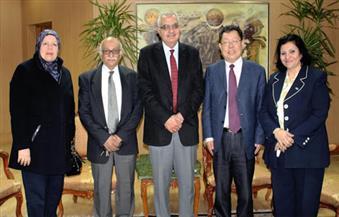 نائب رئيس جامعة المنصورة يستقبل مدير معهد أبحاث الطاقة بأكاديمية البحث العلمي الصينية