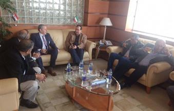 بالصور.. وزير البترول يصل مرسى علم لتفقد منجم السكري