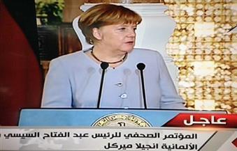 """ميركل: قرار مصر بتحرير  سعر الصرف """"شجاع"""".. ودعم مالي بـ250 مليون دولار لتحسين أحوال اللاجئين"""