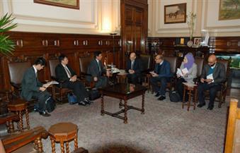 """""""البنا"""" يستقبل السفير الياباني بالقاهرة لبحث سبل التعاون الزراعي بين البلدين"""