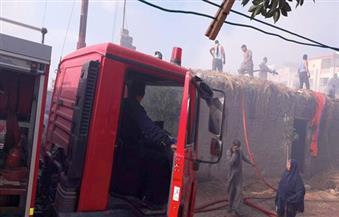 حريق مروع بقرية الحمراء بمركز كفرالشيخ يؤدي إلى احتراق 3 منازل