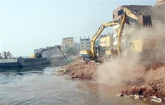 الأمن يواصل حملاته لإزالة التعديات على نهر النيل بالوراق