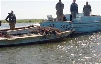 حملة أمينة موسعة على بحيرة البرلس بكفرالشيخ