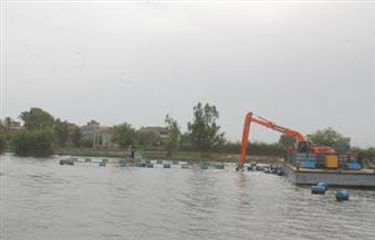 """""""المسطحات المائية"""" تشن حملة لإزالة التعديات على ترعة المحمودية بالإسكندرية"""