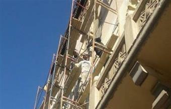 """استمرار أعمال ترميم العقارات في """"الكوربة"""" ضمن مبادرة """"إحياء تراث مصر الجديدة"""""""