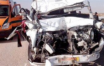 مصرع أمين شرطة وإصابة شخصين في حادث تصادم بأسيوط