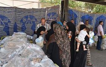 """إخلاء مخزن لـ""""الكاوتش"""" في مدينة نصر حفاظًا على أرواح المارة.. وتوزيع مواد غذائية للأسر الأولى بالرعاية"""
