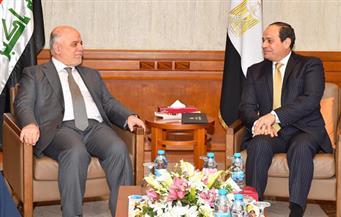 السيسي يستقبل رئيس الوزراء العراقي بمقر إقامته بالأردن..ويؤكد دعم مصر لوحدة واستقرار العراق وسيادته على أراضيه